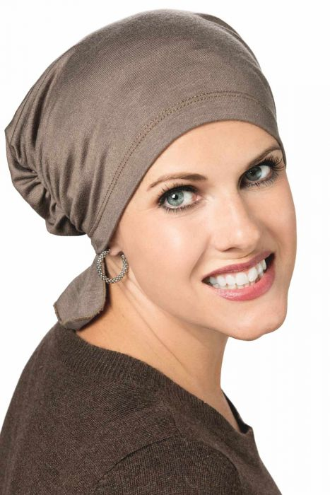 Gathered Scarf Beanie - Chemo Head Covering
