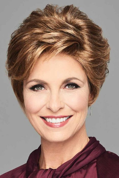 Stylish Flair by Eva Gabor Wigs- Lace Front, Monofilament Wigs