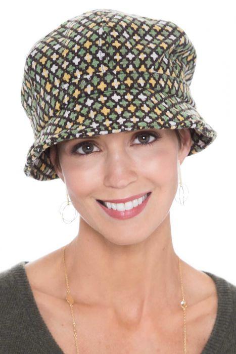 Gloria Cross Stitch Cloche Hat | Warm Winter Hats for Women |