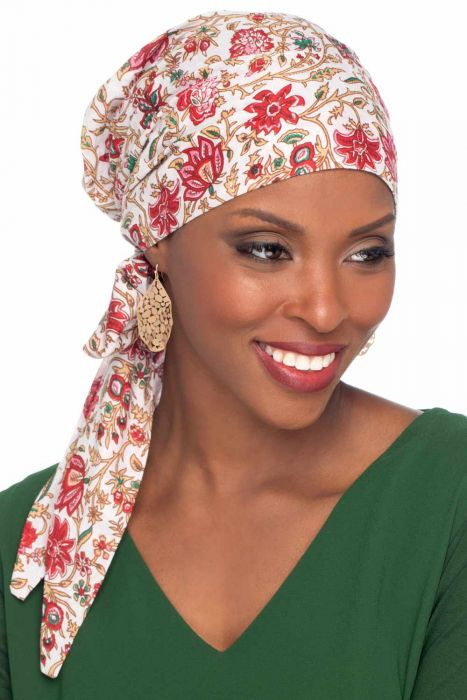 Hannah Headwrap in Cotton Woodblock Prints