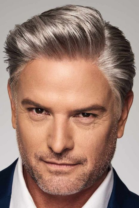Distinguished by HIM HairUWear - Heat Friendly, Human Hair/Synthetic Blend, Hand Tied, Lace Front Wig