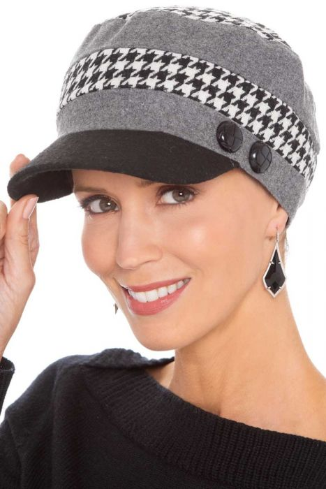Houndstooth Collage Newsboy | Winter Newsboys for Women