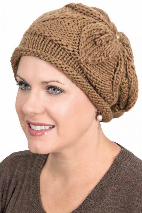 Jennie Knitted Flower Beanie Hat