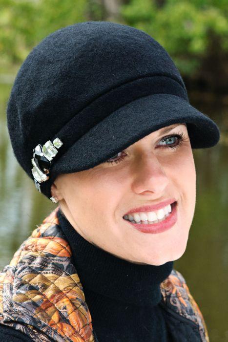Jeweled Justine Newsboy Hat