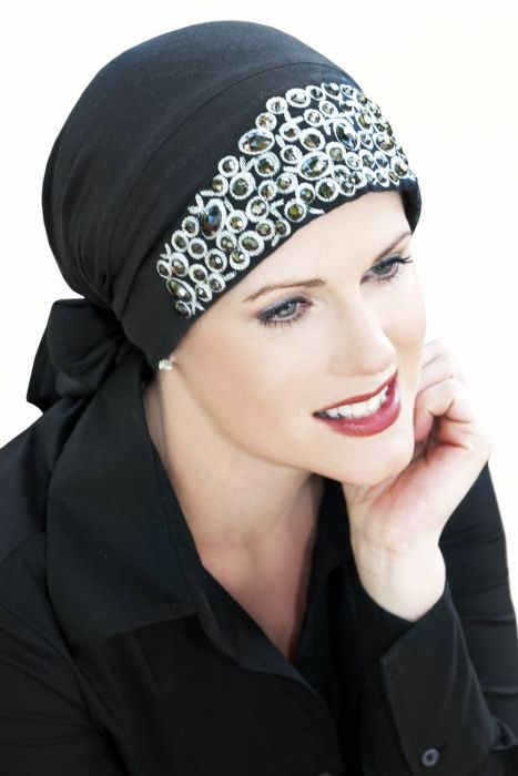 Jeweled Olivia Scarf | Easy Tie Head Scarves