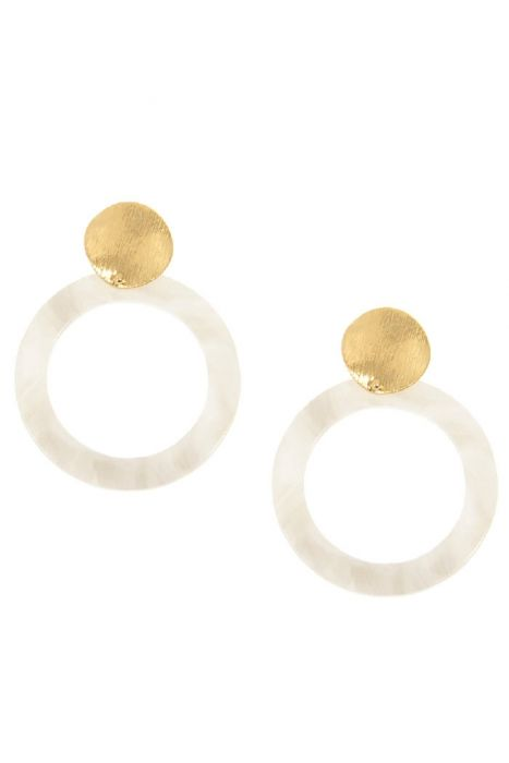 Misty Meadows Lucite and Gold Earrings | Hypoallergenic Post Earrings |