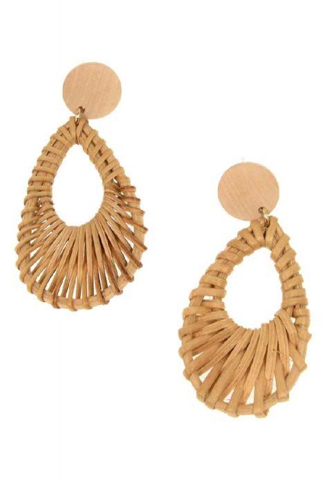 Woven Wicker Drop Earrings | Lightweight + Nickel & Lead Free