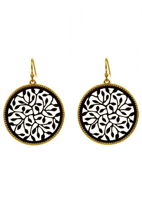 Ring of Leaves Earrings | Gold Plated Stainless Steel |