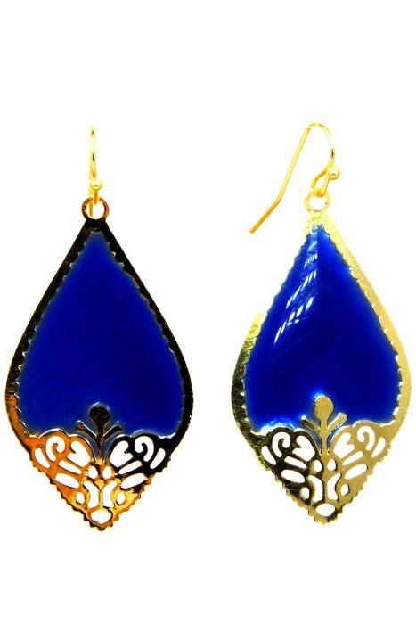 Royal Cut Gold-Plated Dangle Earrings | Gold Tone Nickel & Lead Free Earrings