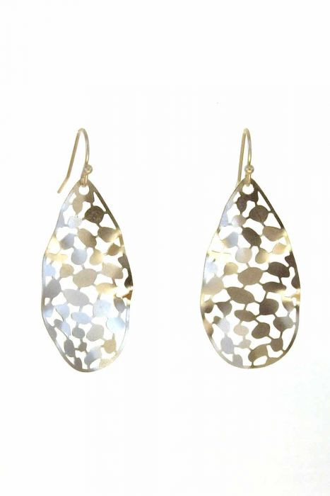 Abstract Raindrop Earrings | Rhodium Plated and Hypoallergenic