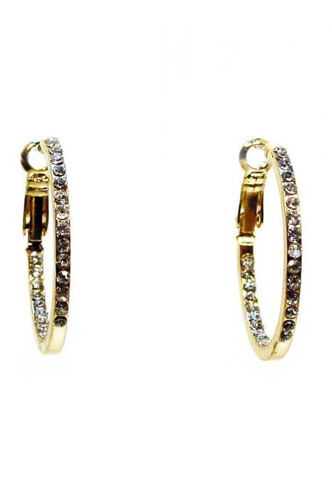 Crystal Gold Hoop Earrings | Gold Plated and Nickel Free