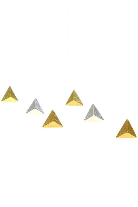 Boho Triangle Stud Earrings   Multi-Toned Nickel and Lead Free Earrings