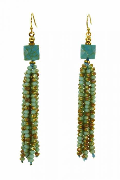 Rainy Day Turquoise Earrings   Hypoallergenic Earrings  