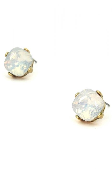 Gold-Plated Opal Stud Earrings | Gold-Plated and Hypoallergenic Stud Earrings
