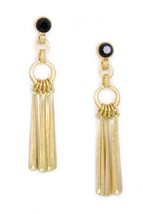 Soft Gold Wind Chime Earrings | Gold-Plated and Hypoallergenic