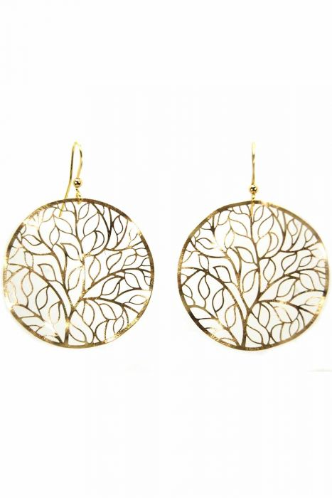 Wreath of Leaves Earrings | Rhodium Plated and Nickel Free