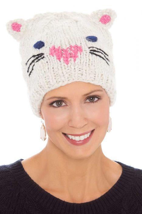 Kitty Cat Knit Beanie Cap | Cute Beanies for Women