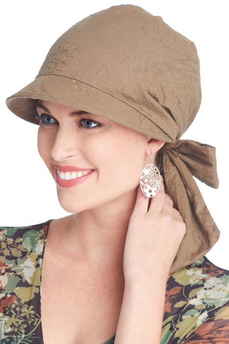 Krista Visor Scarf | Brimmed Head Wrap for Women