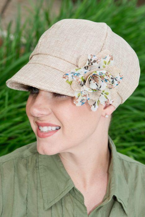 Lara Flower Newsboy Hat