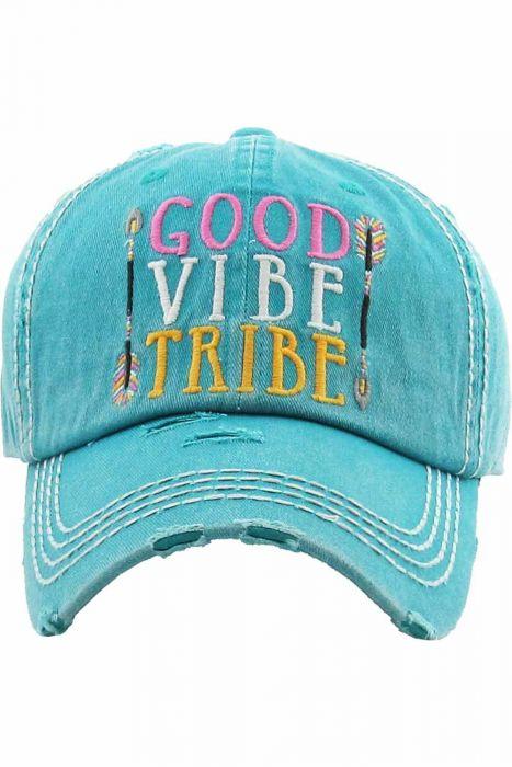 Good Vibe Tribe Hat | Vintage Distressed Baseball Cap