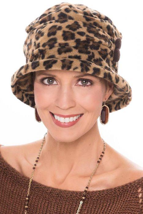 Fleece Leopard Cloche Hat | Fall & Winter Hats