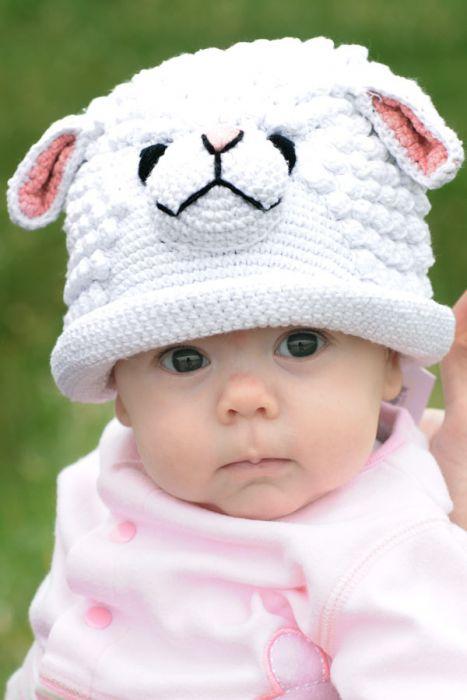 100% Cotton Baby Hat - Lamb |