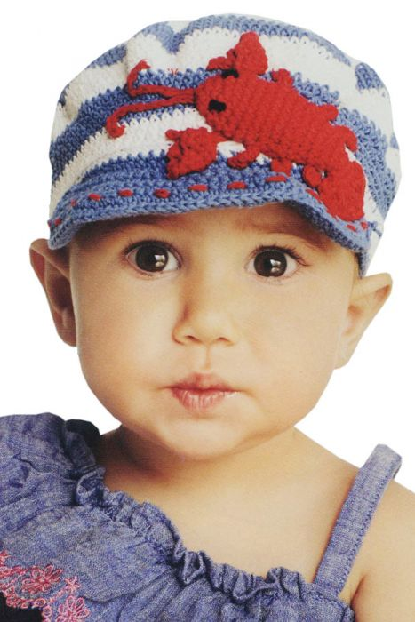 Kids Hand Crocheted Lobster Hat