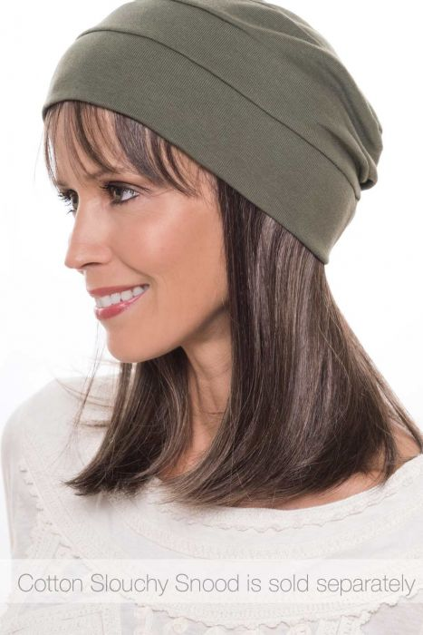 Cardani Long Hair Halo with Detachable Bangs - Hairpiece for Hats - Hats with Hair