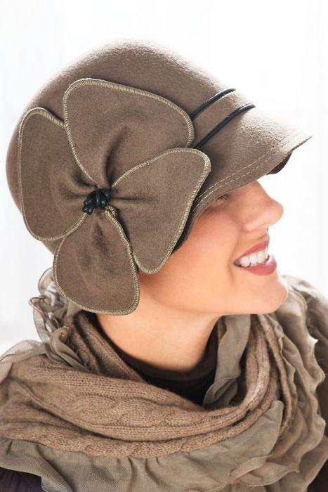 Felt Louisa Cloche Hat