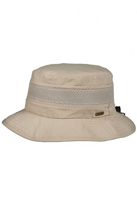Bug Repellent Mesh Drawstring Bucket Hat   UPF 50+   Mens Fishing Hat