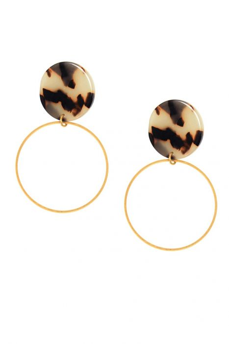 Lyssa Tortoiseshell Hoop Earrings | Hypoallergenic Earrings |