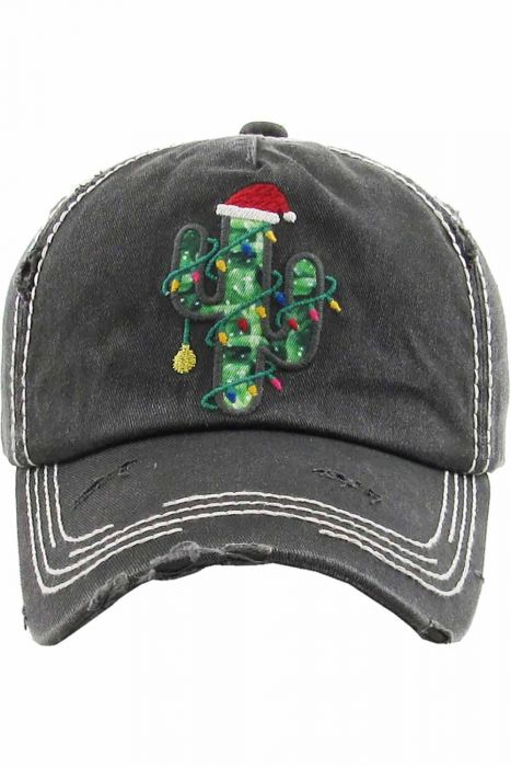 Christmas Cactus Cap | Vintage Distressed Baseball Caps