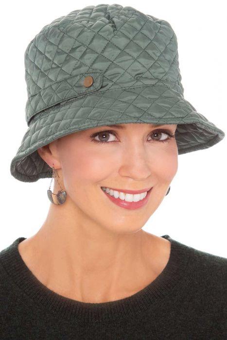 Manhattan Quilted Rain Hat   Packable Rain Hats for Women