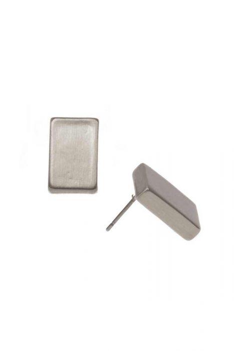 Matte Rectangle Stud Earrings | Hypoallergenic Earrings for Men & Women