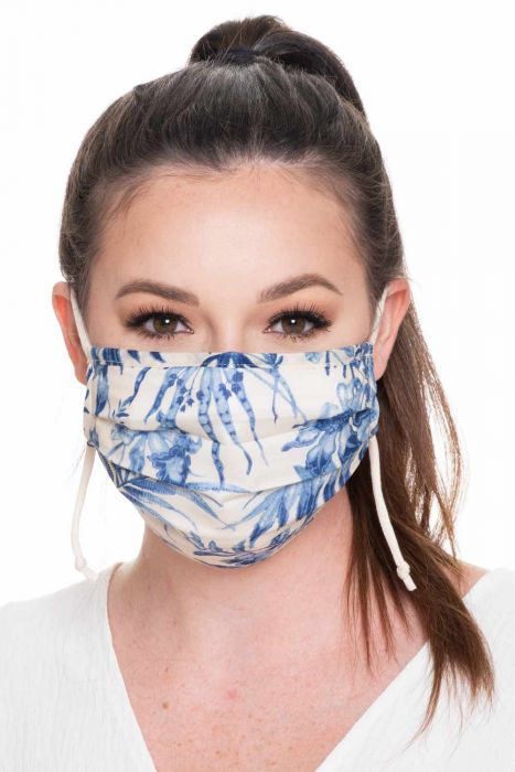 Accordion Face Mask| Cotton Face Mask with Designs | Medical & Surgical Mask with Bamboo Lining