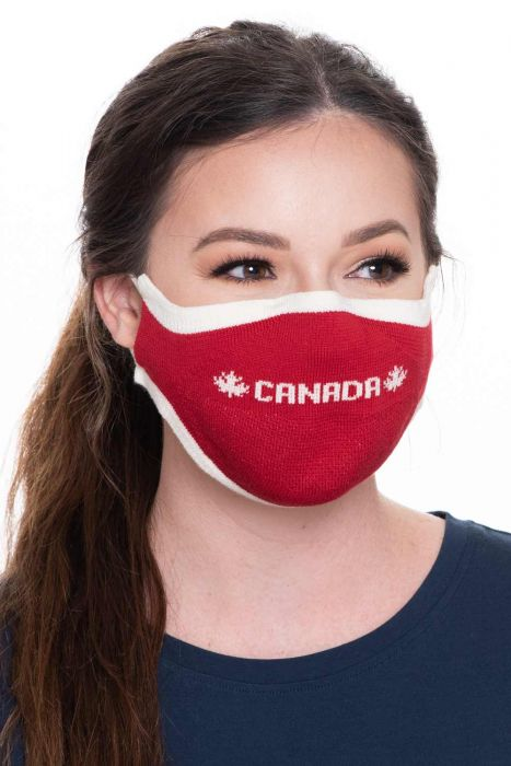 Go Canada Face Mask | Canadian Flag Knitted Cotton Face Mask for Virus Protection