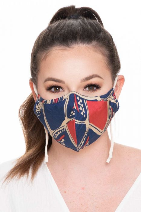 Silk/Cotton Medical & Surgical Face Mask  | Multi Ikat | Silk/Cotton - Multi Ikat