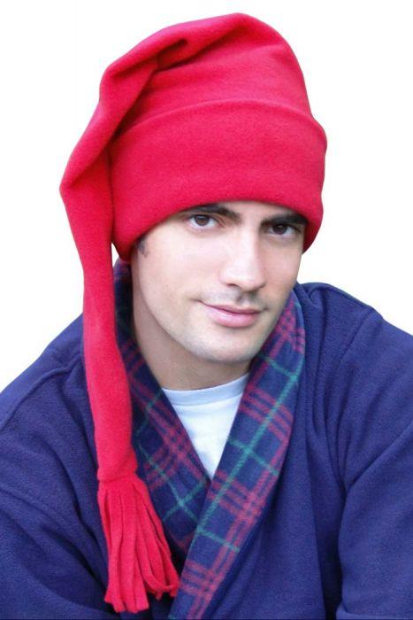 Elf Sleep Caps for Men - Stocking Cap for Sleeping - Night Hat for Man