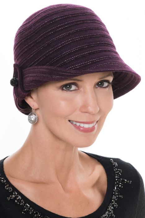 Metallic Camille Cloche Hat | Holiday Winter Hats for Women