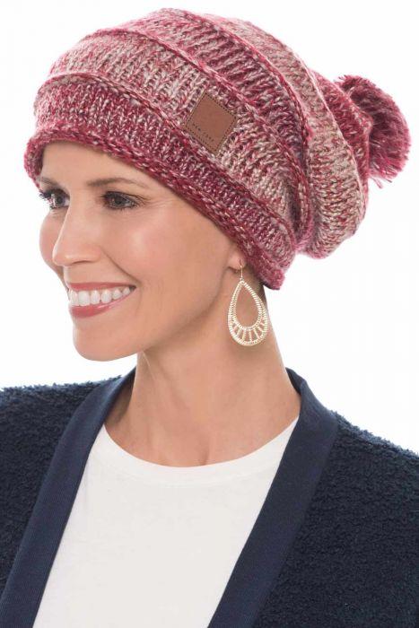 Metallic Pom Pom Slouchy Beanie | Fall & Winter Beanies for Women
