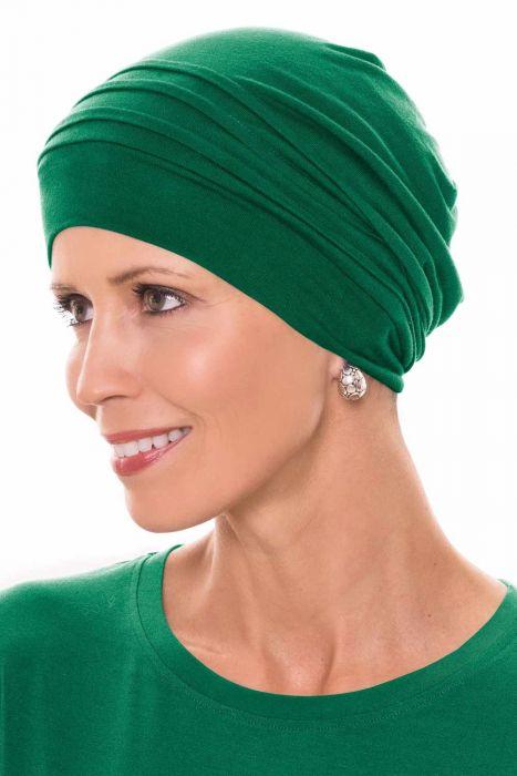 Cardani® Mod Slouchy Snood Turban | Viscose from Bamboo Hat Luxury Bamboo - Emerald Luxury Bamboo - Emerald