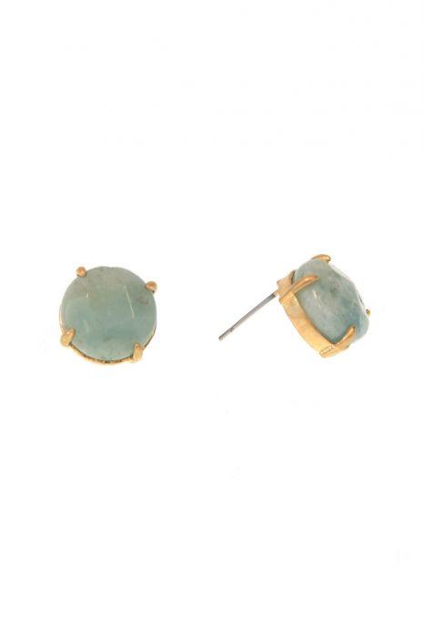 Natural Gemstone Stud Earrings | Nickel & Lead Free Earrings