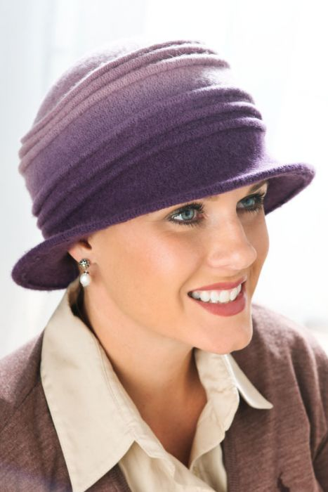 Wool Ombre Cloche Hat