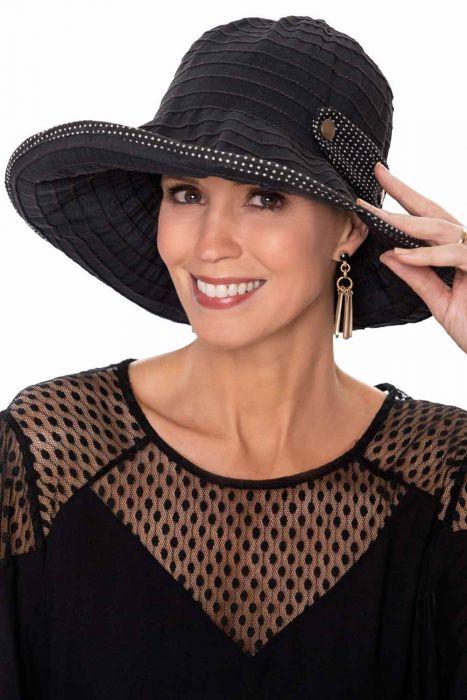 Packable Polka Dot Sun Hat | Sun Hats for Women |