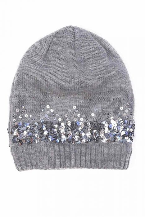 Petite Sequin Sparkle Beanie | Fleece Lined Beanie for Small Heads