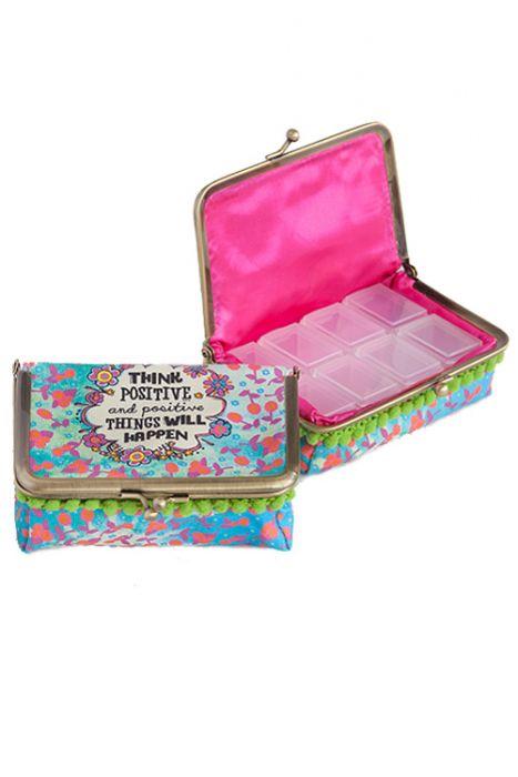 Retro Change Purse Pill Box