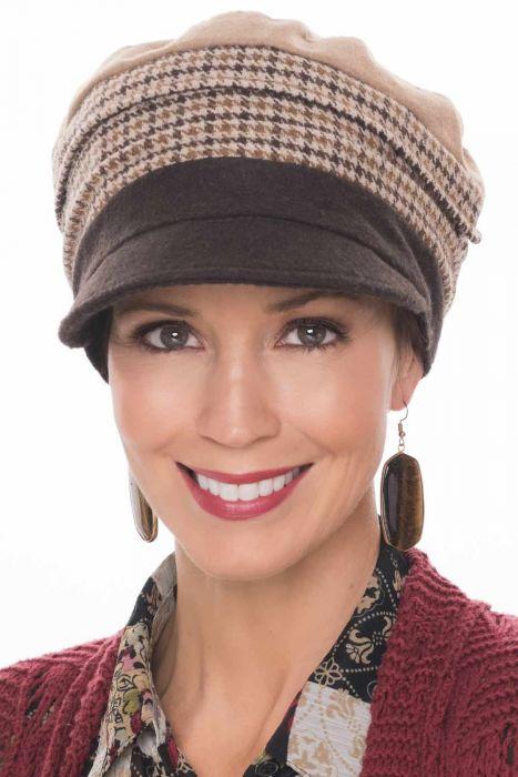 Plaid Patchwork Newsboy Cap | Fall & Winter Hats for Women