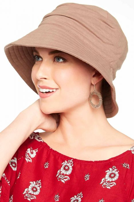 Cardani UPF 50+ Pleated Sun Hat   100% Cotton with Aloe Vera Lining