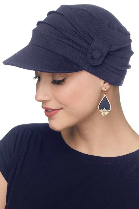 Cardani Pleated Tab Baseball Cap   100% Organic Cotton Hat