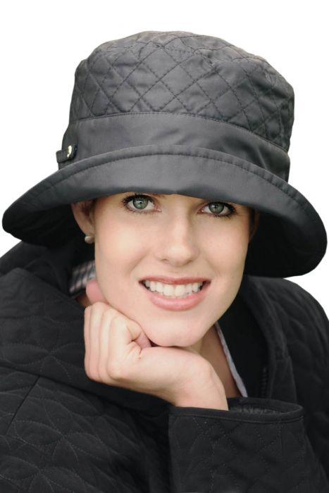 Quilted Bucket Rain Hat